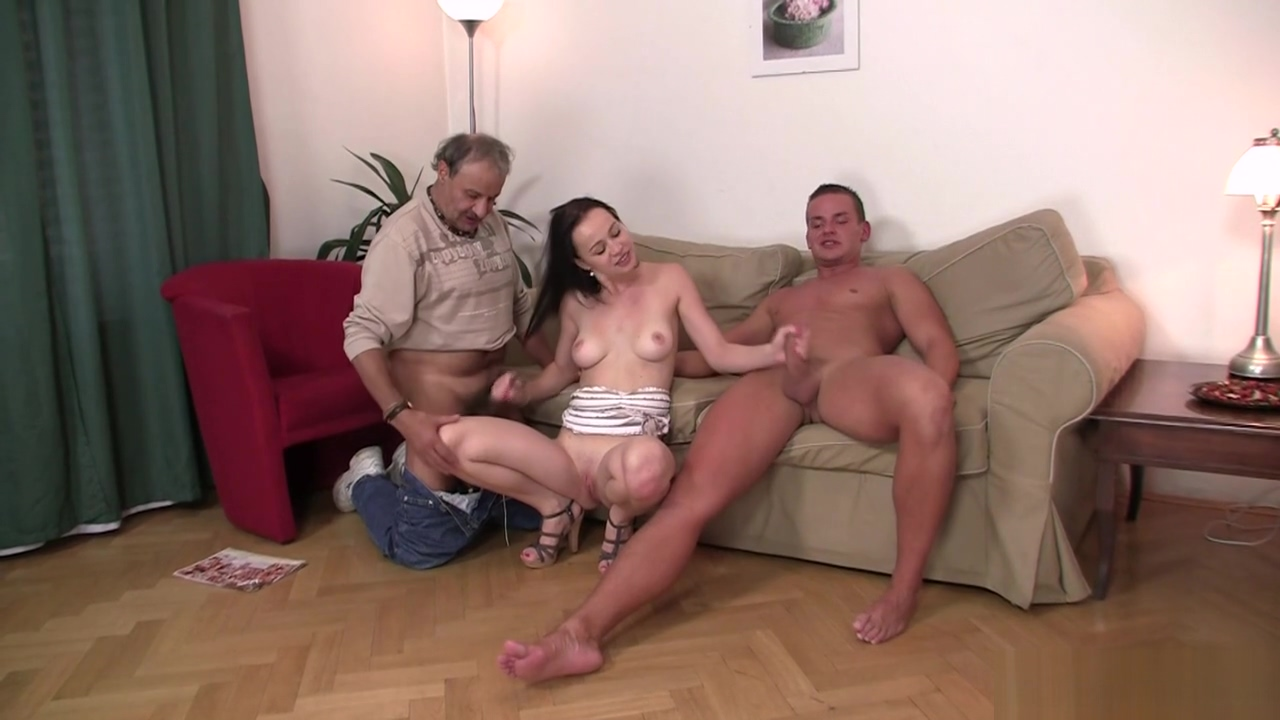 Brunette wife swap for old man Wife pulls tits out for strangers