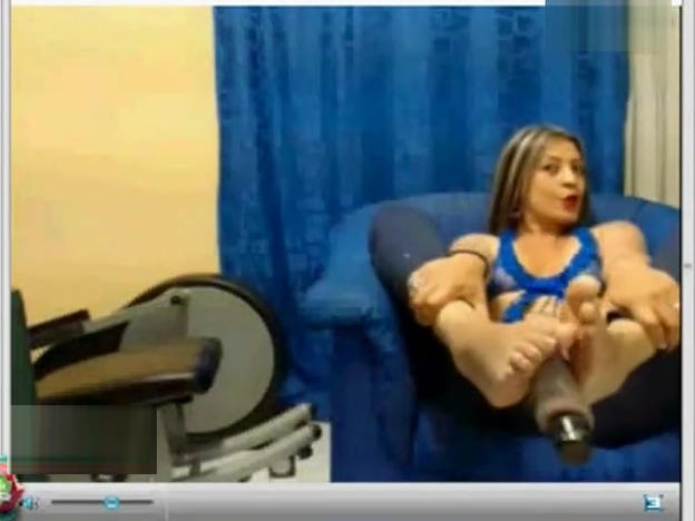 Mlif Show her Soles Foot & Bastinado&Footjob&Tickle her Foot on Webcam Internal massage with two dicks and cum lube