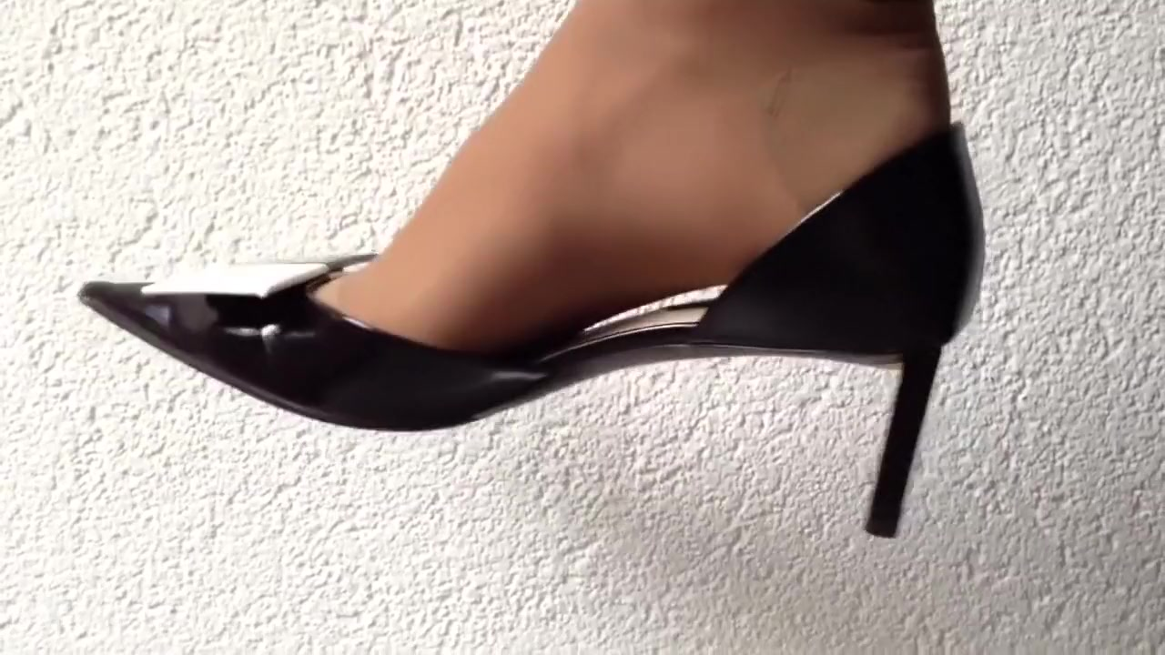 Excellently shoeless and dangling with louis vuitton high heels Nice Girl Hymen