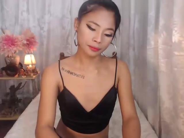 oriental skinny ladyboy Teasing On webcam In piss test ultram