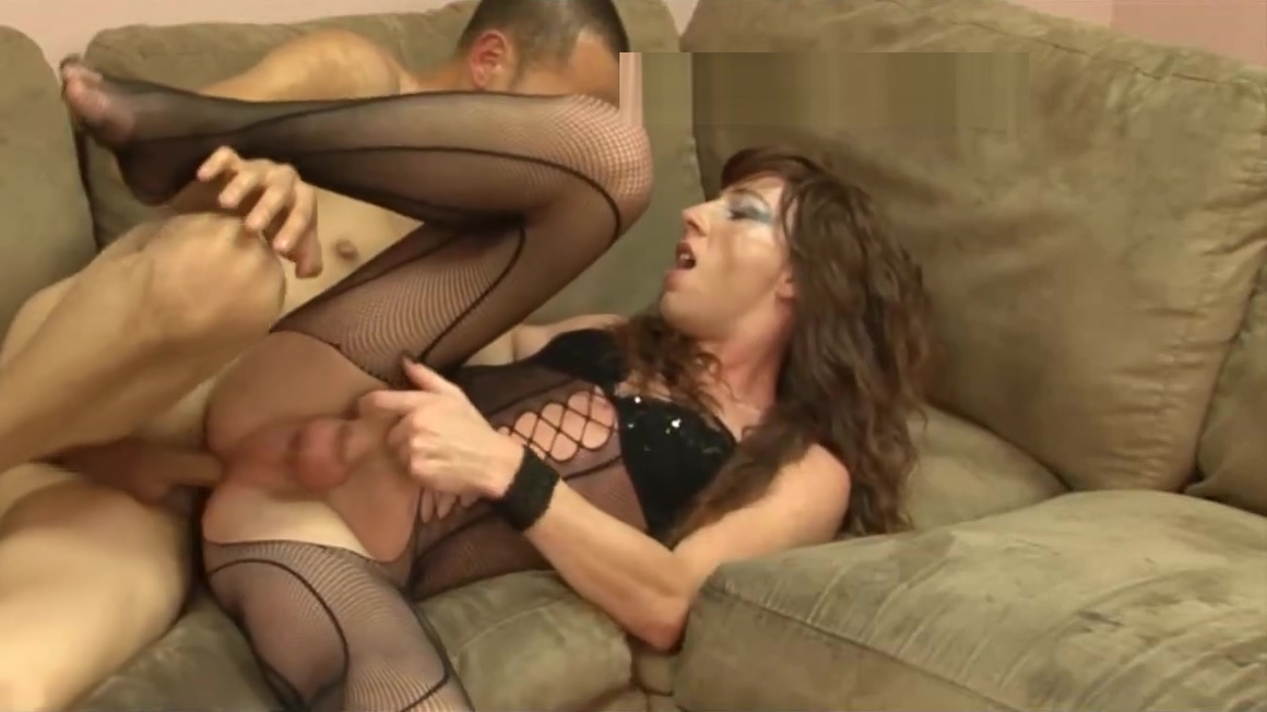 large penis Fishnet sheboy Hard hammer love juice Eat