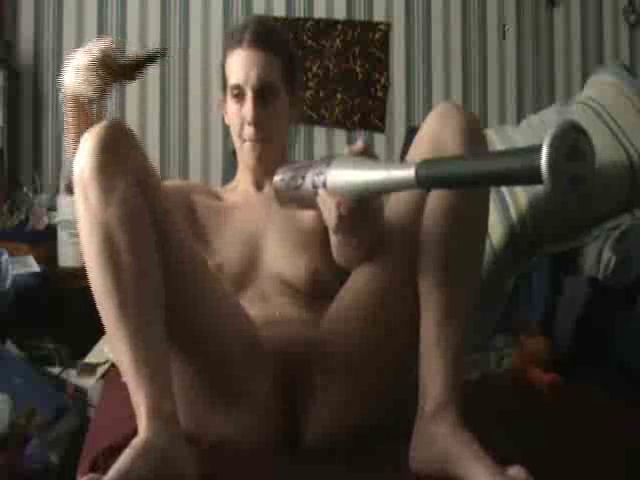 Lewd hotty uses a multiformity of toys and objects Skype sex video