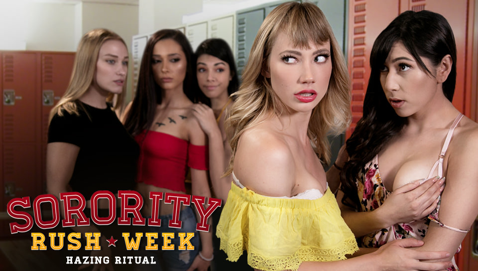 Ivy Wolfe,Judy Jolie in Sorority Rush Week: Hazing Ritual - GirlsWay gay hotels in rome