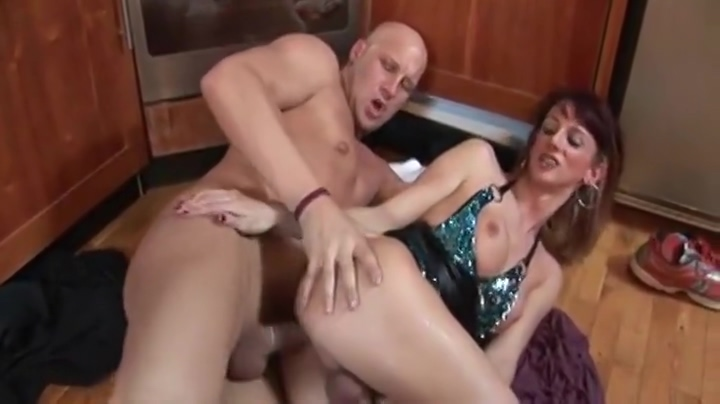 sexy tranny Getting boned In The Kitchen