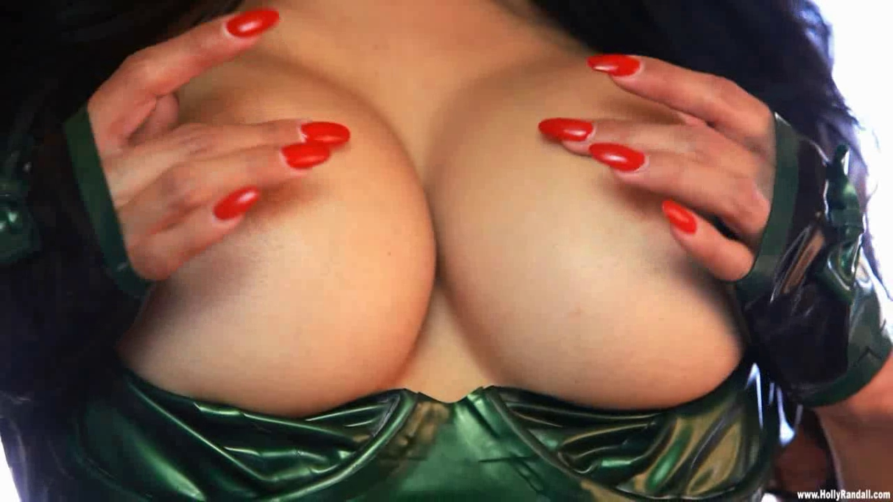 Latin Chick latex swimsuit plays with sex tool LR massage