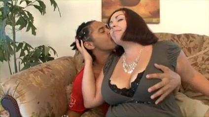 Amazing Interracial video with BBW scenes black guy comes to a blondes milf home for a booty call