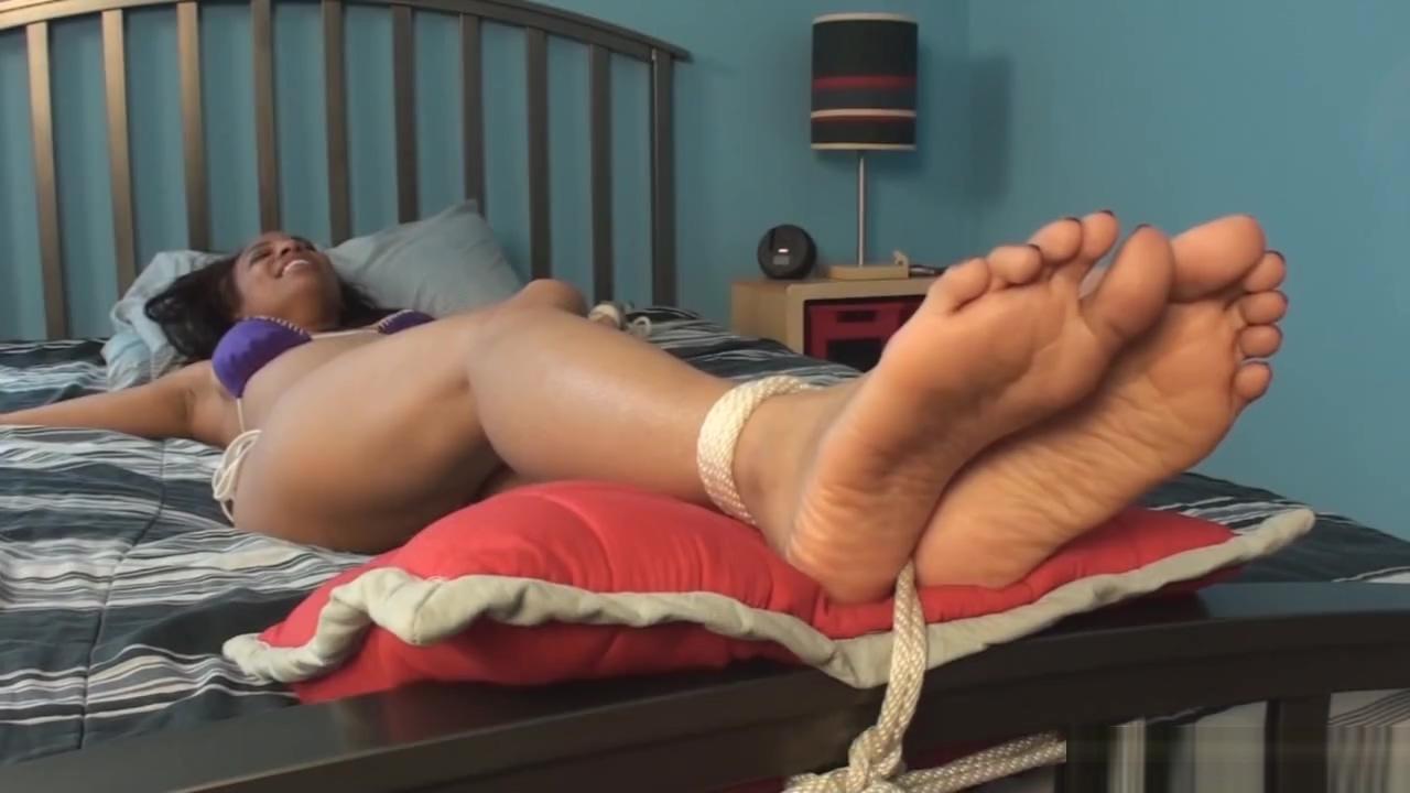 Lesbian nylon foot tickle