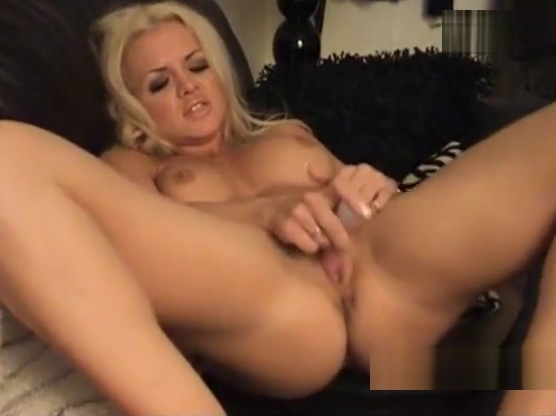Hot blonde babe strips off and plays with big tits and pussy Sexually excited lesbian babes have fun