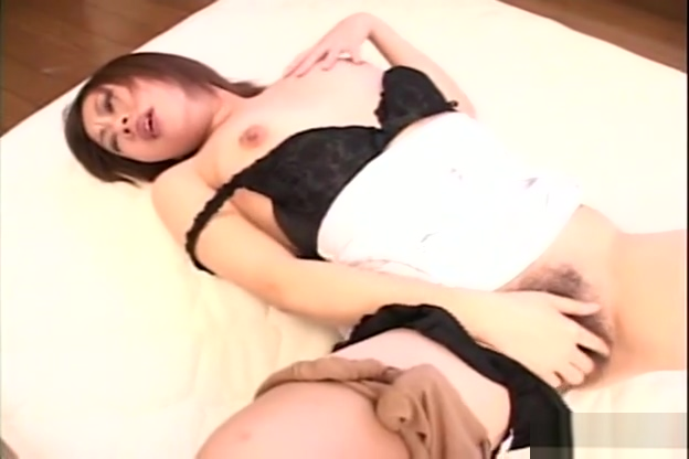 Asian bitch slips a finger in her black lacy panties lesbian reality big boobs