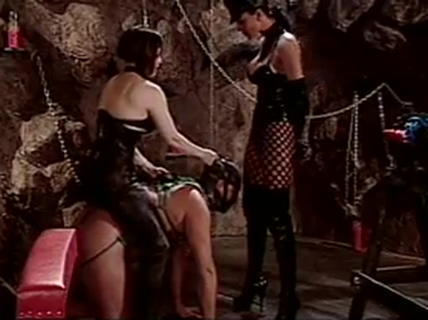 A couple getting played by dominatrix