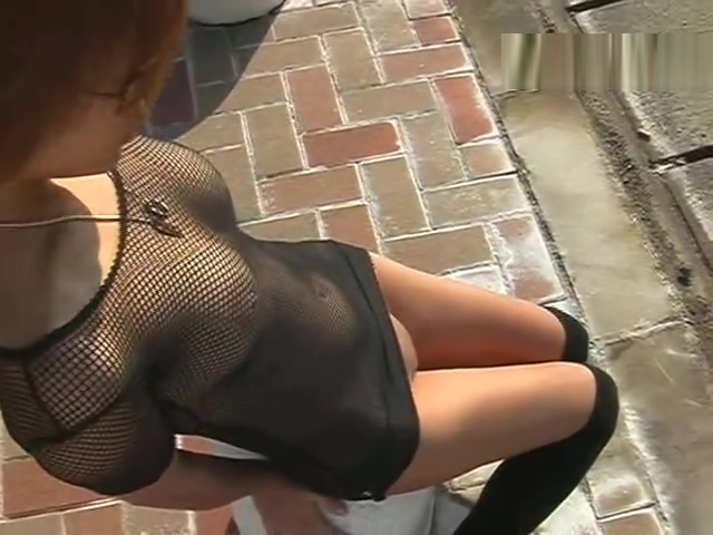 Aya in her fishnet fetish gear in public Women with big tits braless riding bikes videos