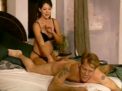 Stud punished on the bed by hot madam Steven fenton leeza gibbons
