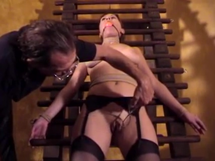 Big tits chick Audrey bound and gagged for a BDSM session High end hookup sites in la