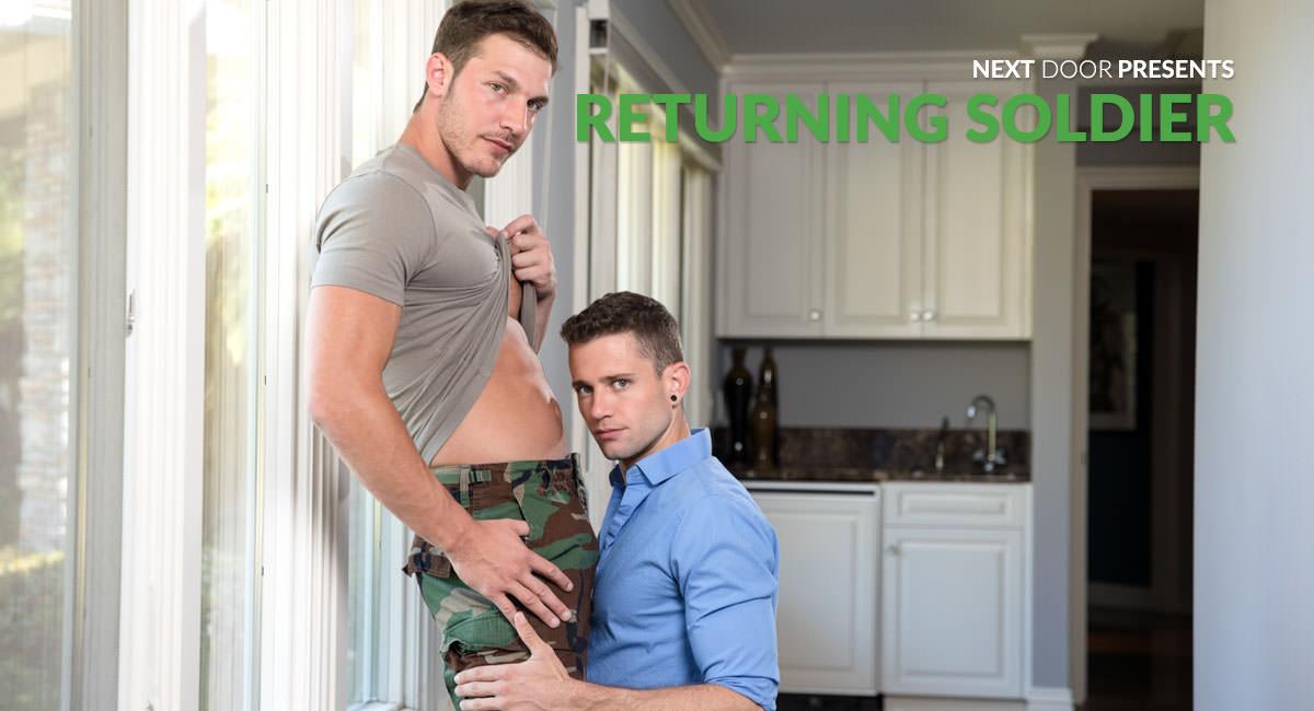 Quin Quire & Brandon Cody in Returning Soldier - NextdoorWorld skinny waist natural breasts