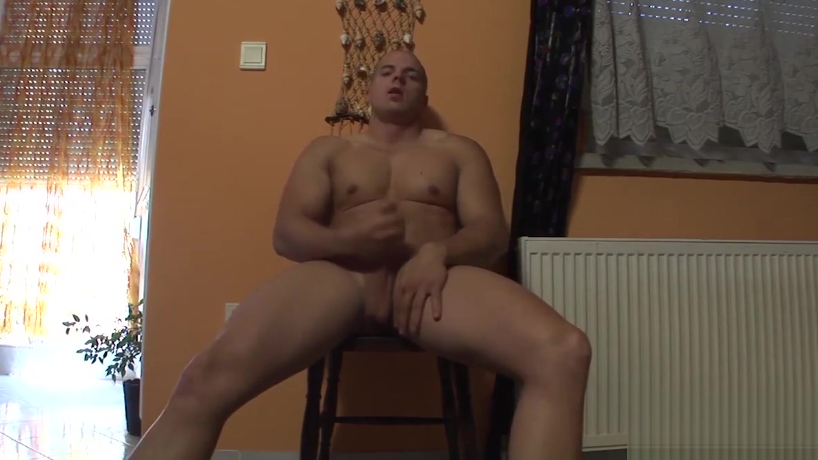 Lusty stud plays with his shaved schlong Black pornstar kiwi