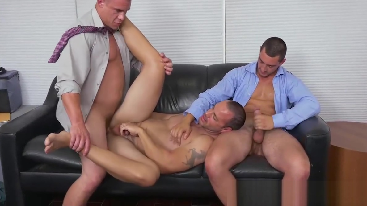 Office guys love bashing butts and sucking those juicy nuts Fanny Agostini