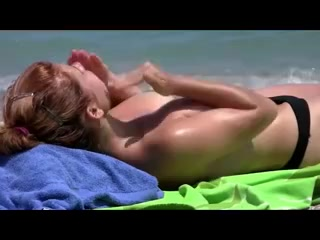 Sexy Redhead Milf on Beach