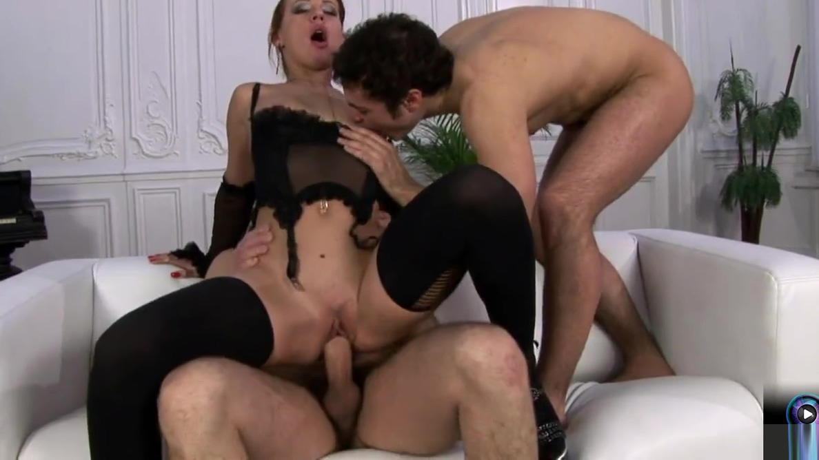 Delicious Marina first time threesome Milf lessons marie