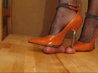 High Heel Cock and Ball trample Orange Metal Private fucking in Stavanger