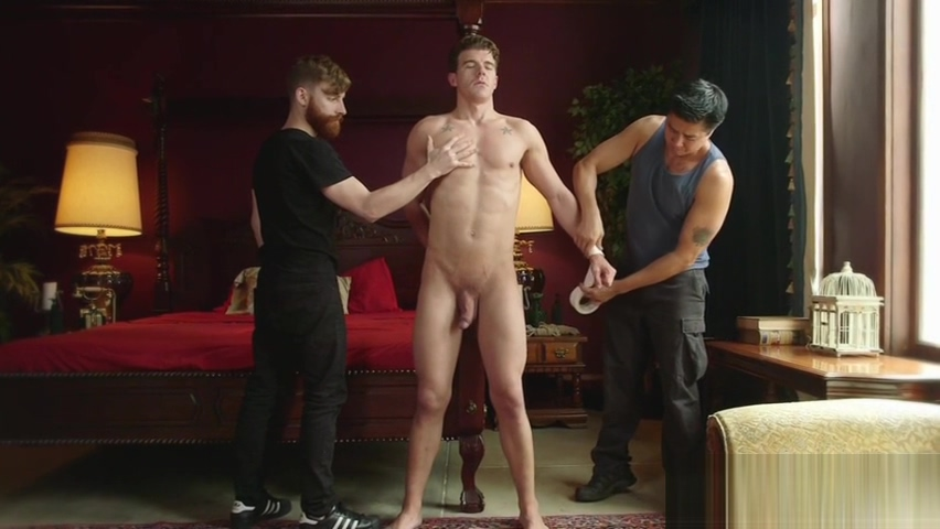 Ripped hunk brought to the edge during bdsm a to z sex