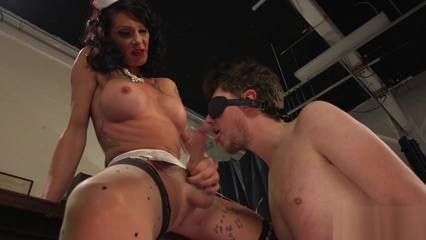 TS domina punishes her submissive slave Premarin weight gain