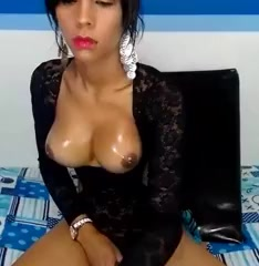 Busty shemale, Yoselin, jerks cock on webcam Hot milf+ anally mastubating