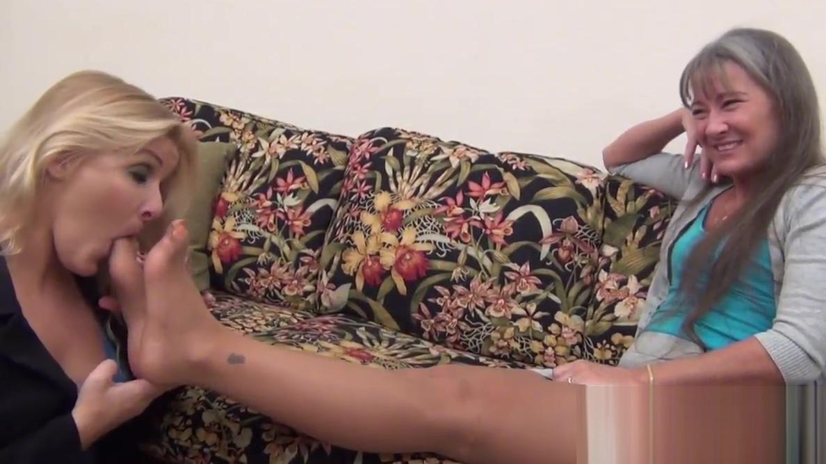Milf Boss Makes Young Blonde Worship Nylon Feet