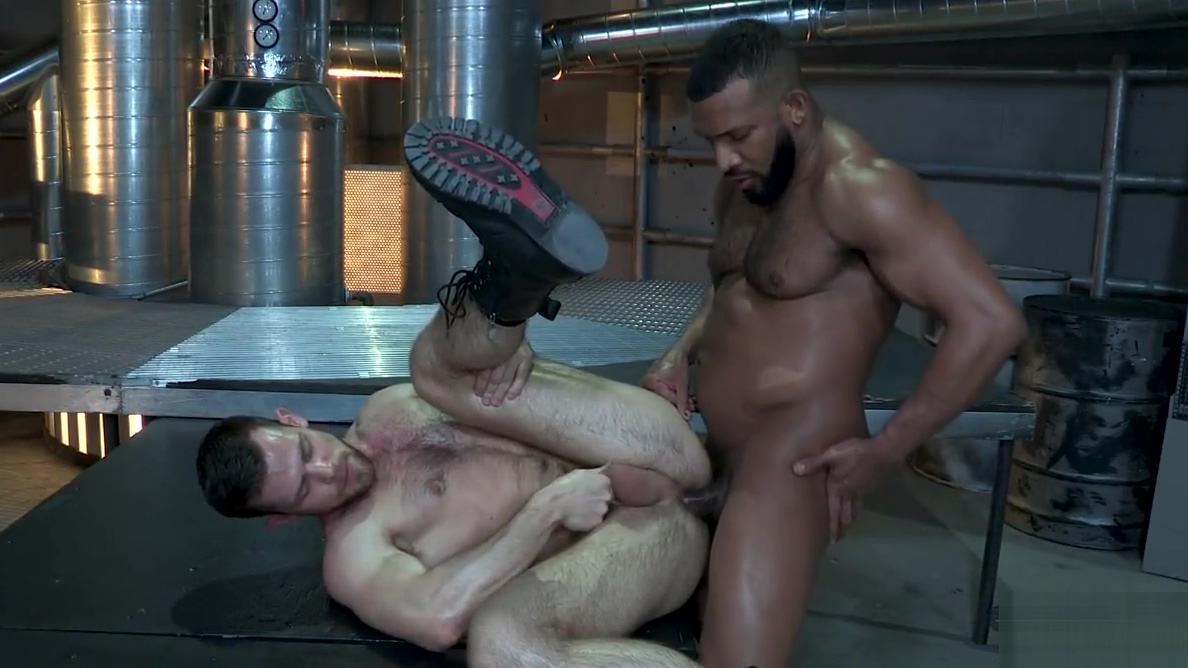 Interracial gay sex with muscle men Spank guys thumbs
