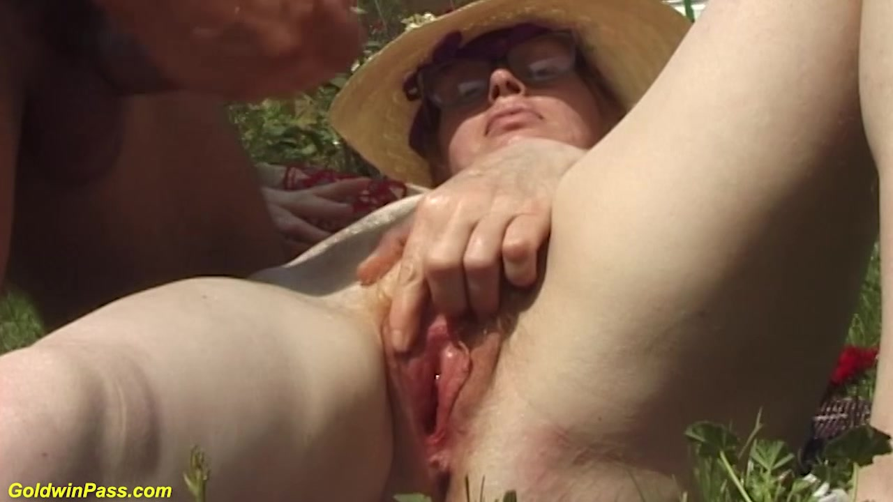 hairy bush german granny gets rough outdooor fucked with huge turnip Sex cream pie gif