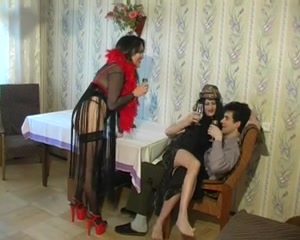 two CDs Crossdressers And 1 Mate Hot Video Xxx Porn