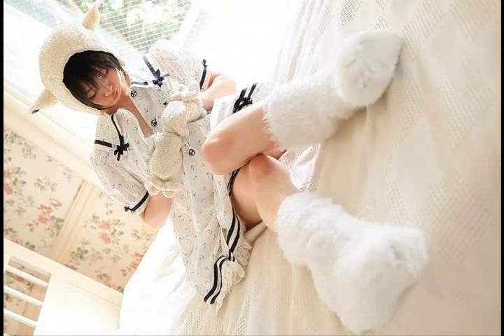 Cosplay Idol - Ushijima 7 Ultra skinny porn Homemade fuck