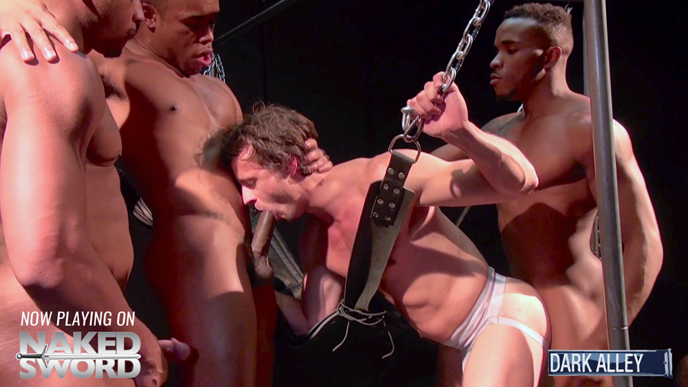 Interracial Dungeon - Raw Fuck Club / Dark Alley Media Glam dressed les finger