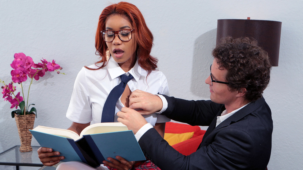 Jenna Foxx & Robby Echo in Banging The Bookworm - BRAZZERS free gay video tube man boy