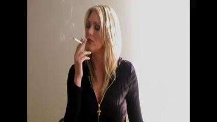 Blonde Woman Smoking #1 Romantic Natur