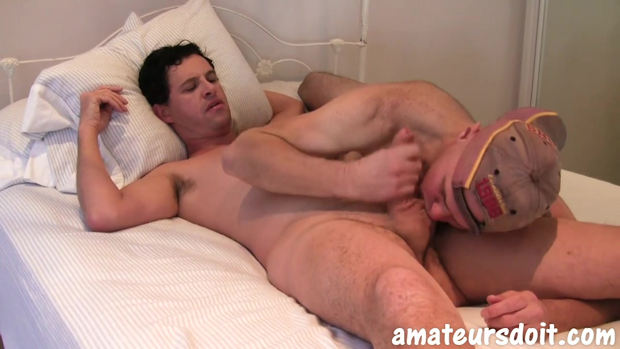 AmateursDoIt - Sexy studs Neil and Joel swap head with hot deepthroating Skinny Penelope Stone a large, firm, round ass