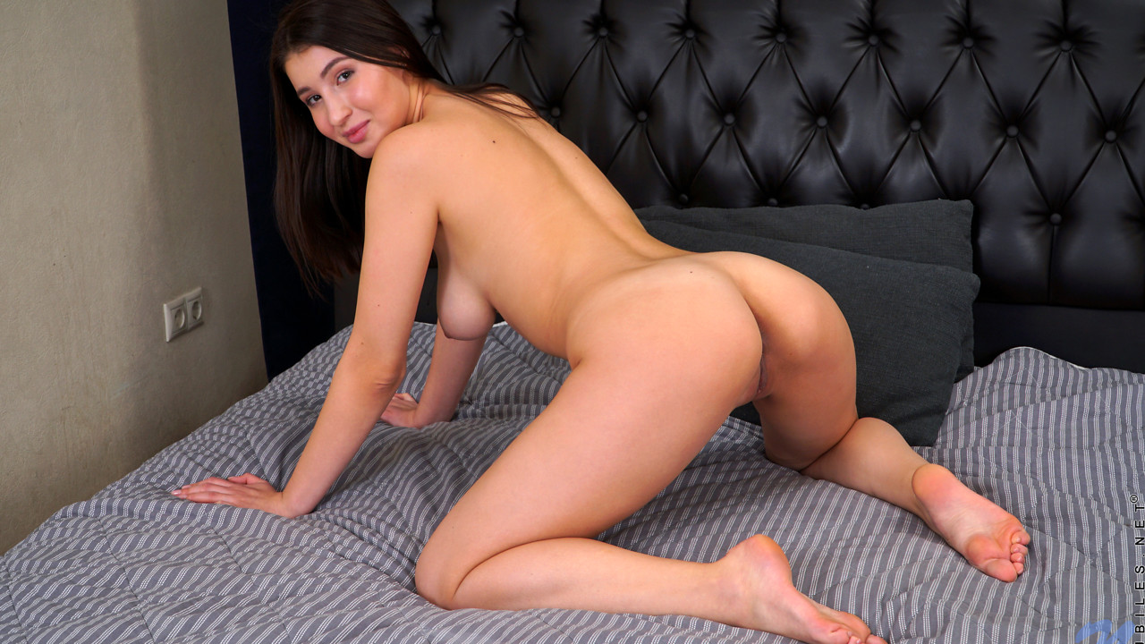 April Storm in Pussy Play - Nubiles handjob in underwear tube