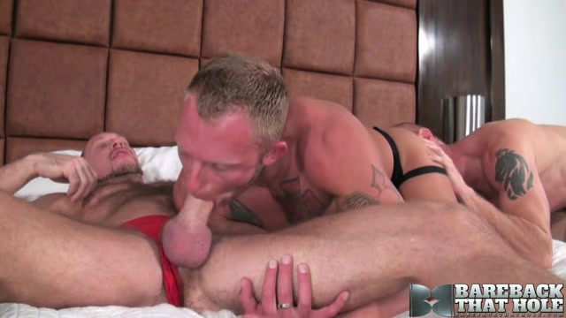 Randy Harden, Mason Garet and Preston Johnson - BarebackThatHole Sex on the jeanse fat leady