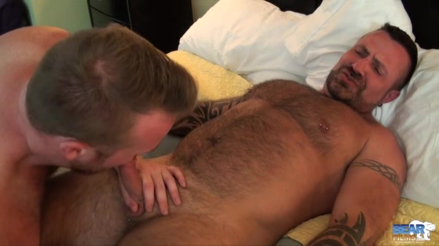 Rusty McMann, Kyle Scott, and Marc Angelo - BearFilms Chat up line on hookup site