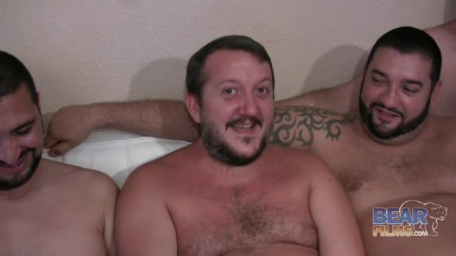 Spanish Bears Bukkake Gangbang - BearFilms Big tit double blowjob cum