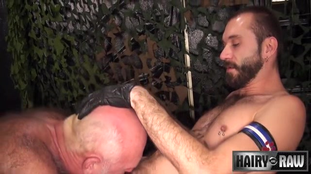 Chuck Collier and Ethan Palmer - HairyandRaw blonde tit cum shot