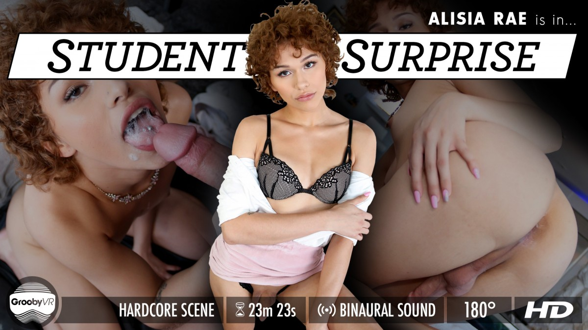 Alisia Rae in Student Surprise - GroobyVR Sister confesses to brother about impregnation fantasy