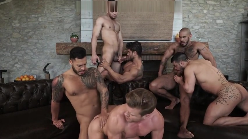 Sex-Party - Six dudes Have fun Cock hot in pantie pussy young