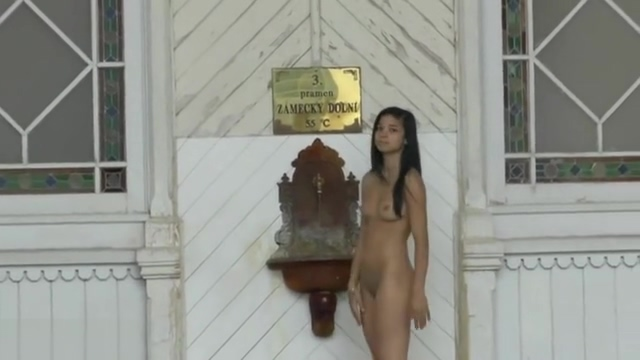 Pretty NIP Activity girl Nichola walks nude through town guy and girl fucking picture