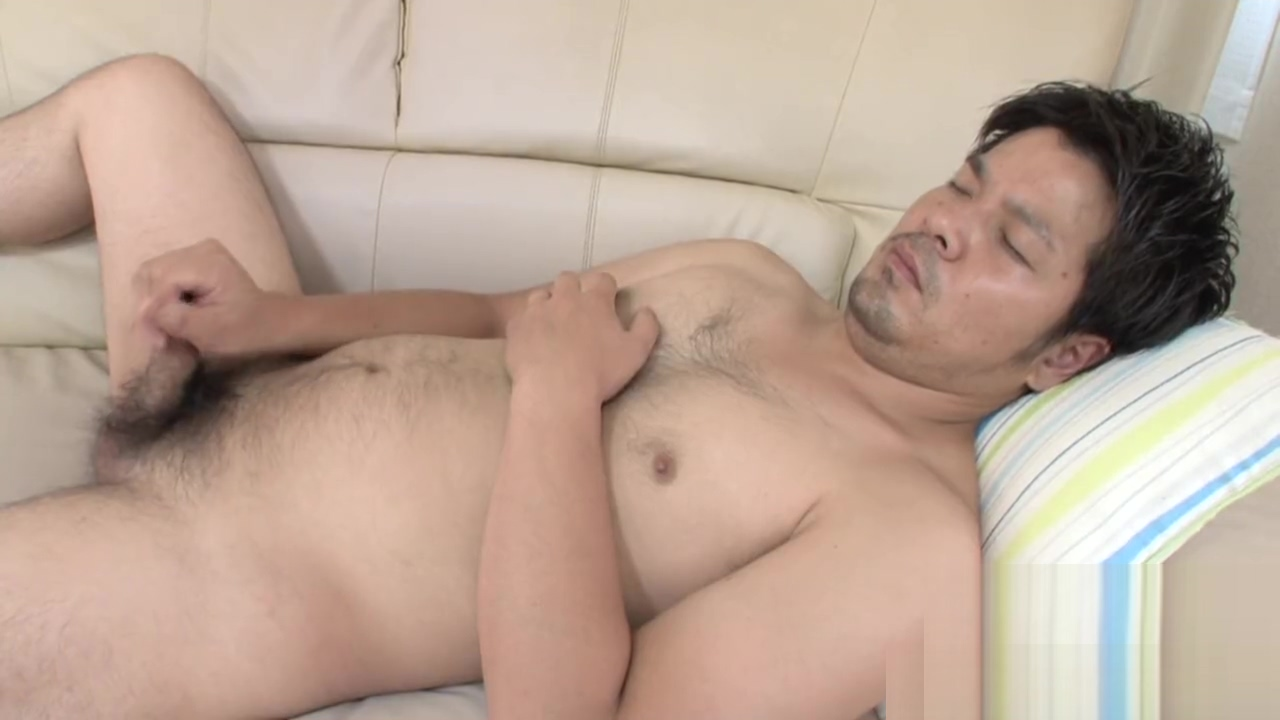 Uncensored japanese chubby hunk muscular bear jerk off masturbation Estim orgasm video
