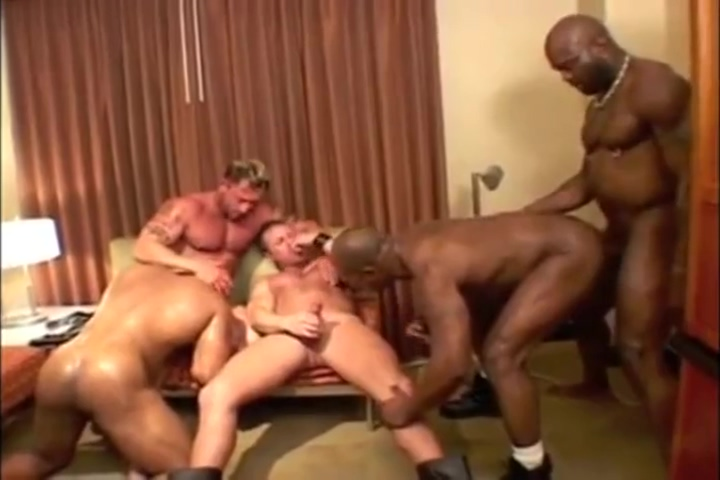 Interracial Muscle Orgy Jadakiss and a naked bitch