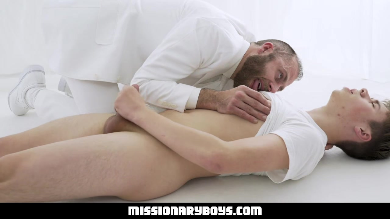 MissionaryBoyz - Young Missionary Boy Gives A Priest A Cum Facial Running on the milf hunter