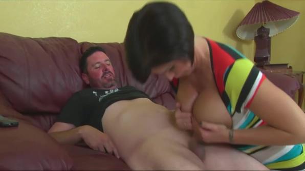 Milf Great Handjob And TitJob