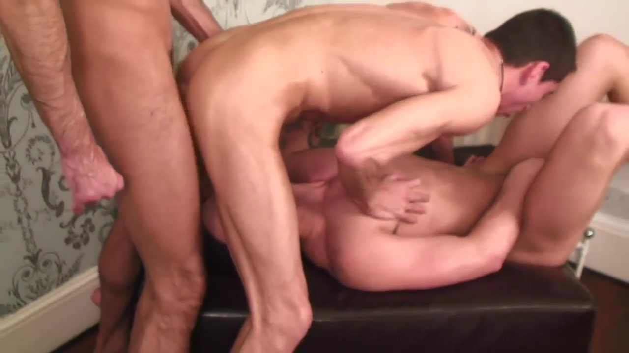 Hot tattooed studs have hardcore threesome fuck Fuck a black girl hd picture