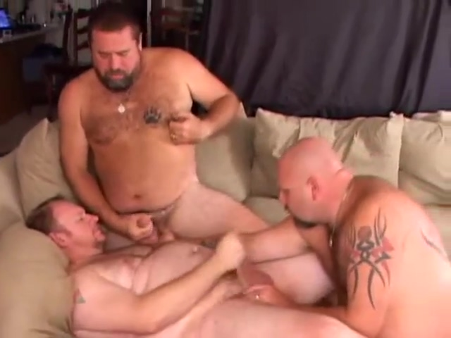 Chubby guys in gay threesome Latin girl sexy