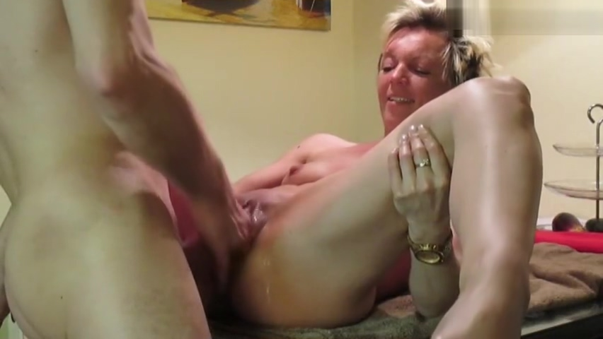 Fucking German Milf on Kitchentable Big and huge cock